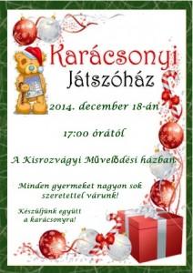 Karácsonyi Játszóház plakát 2012.